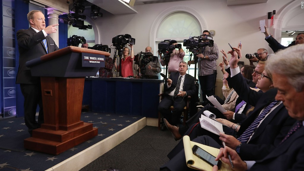 'Outrageous' lack of answers from Trump's press aides