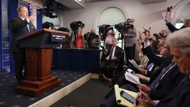Off-camera, no audio broadcast: White House keeps undermining press briefing