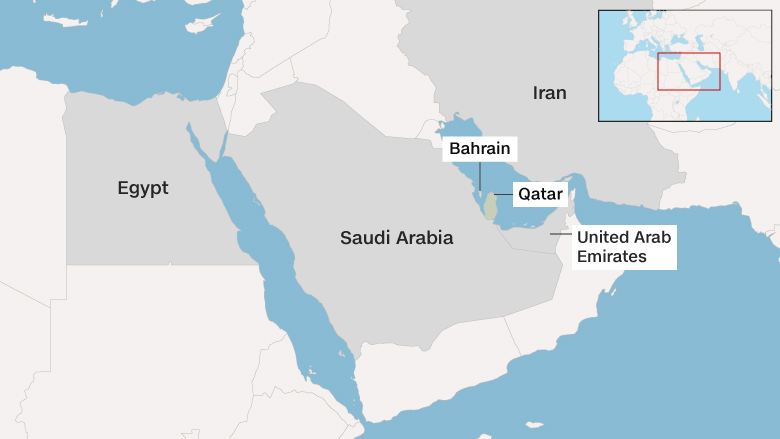 Qataris Stock Up On Food As Arab Embargo Threatens Imports Jun - Map of qatar and egypt