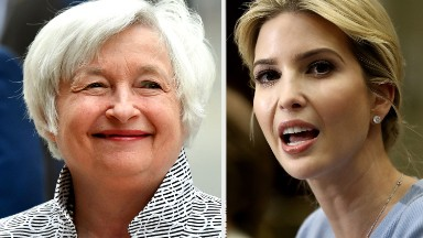 Ivanka Trump cheers ... Janet Yellen?