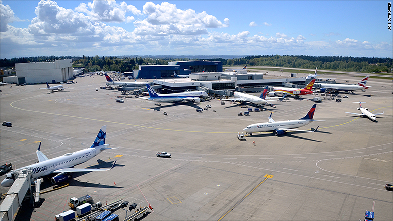How Amazon filled up Seattle's airport and what it means ...