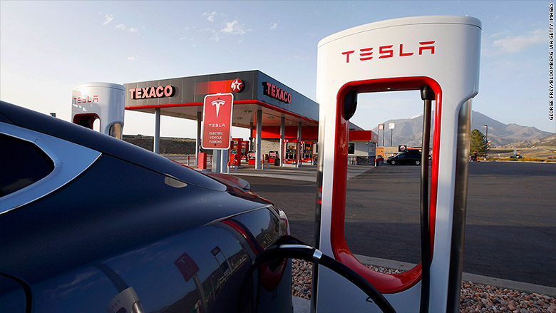 tesla electric cars gas oil