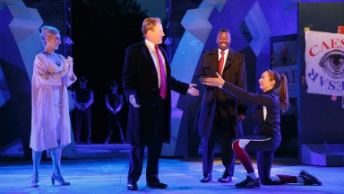 Trump-like 'Julius Caesar' isn't the first time the play has killed a contemporary politician