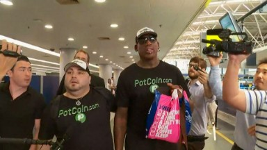 CNN on the ground: Waiting for Dennis Rodman