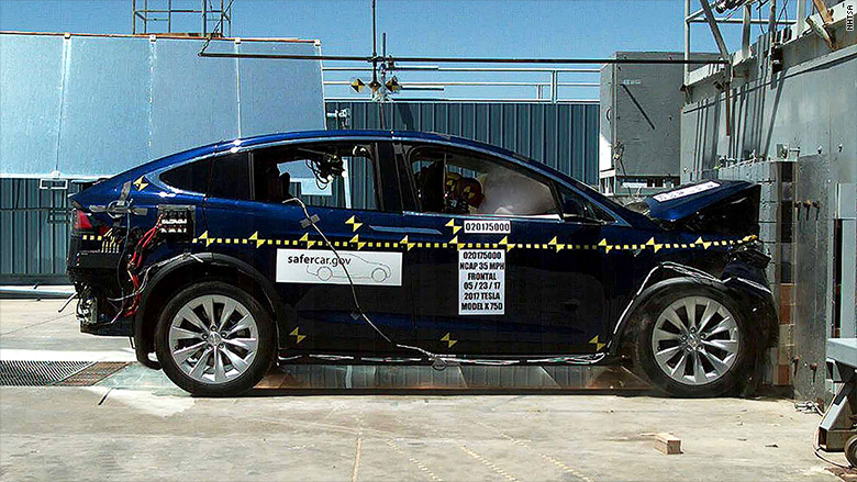 tesla model x crash test impact