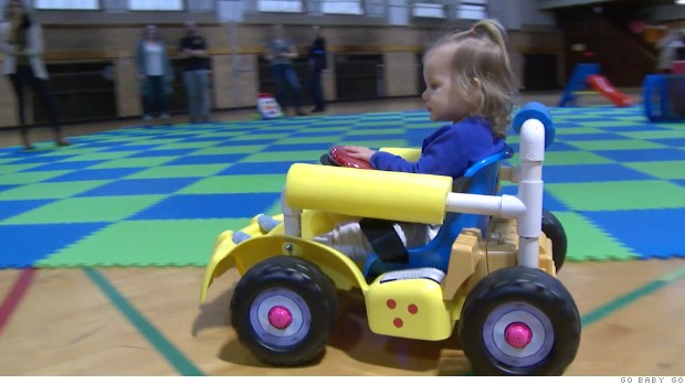 Kids swap wheelchairs for toy cars in innovative therapy program