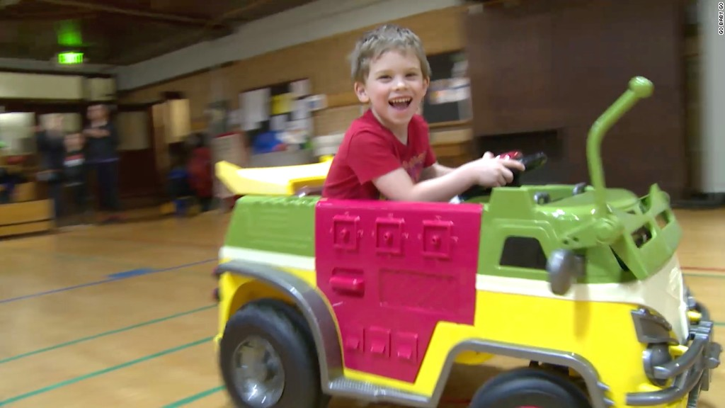These tricked-out toy cars help disabled kids cruise