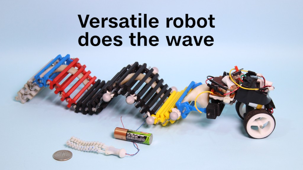 This versatile robot does the wave