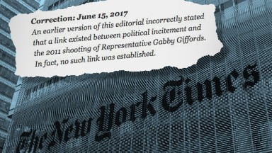 'We're sorry': New York Times issues correction to editorial after controversy