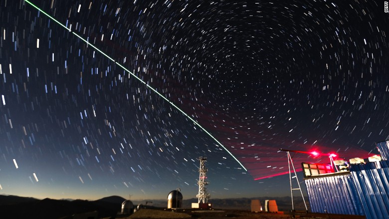China's Micius satellite sent photons to ground stations in the mountains of Tibet. Image: BBC
