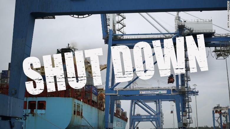 carleston port shutdown