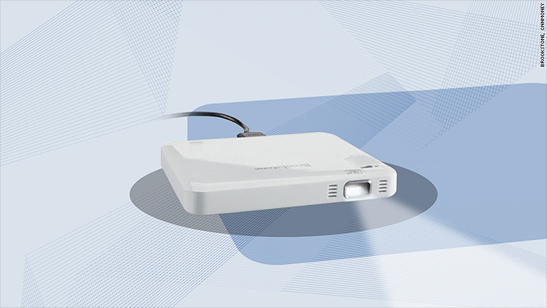 Brookstone micro pocket projector the best gadgets for for Best pocket projector for business