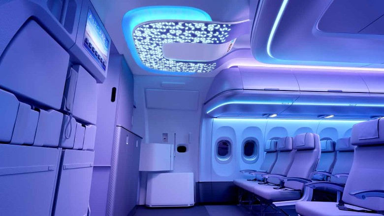 Airbus Airspace cabin design entrance