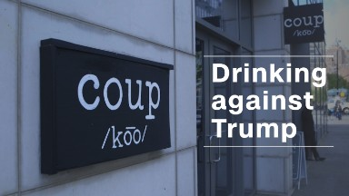 This bar lets you drink for an anti-Trump cause