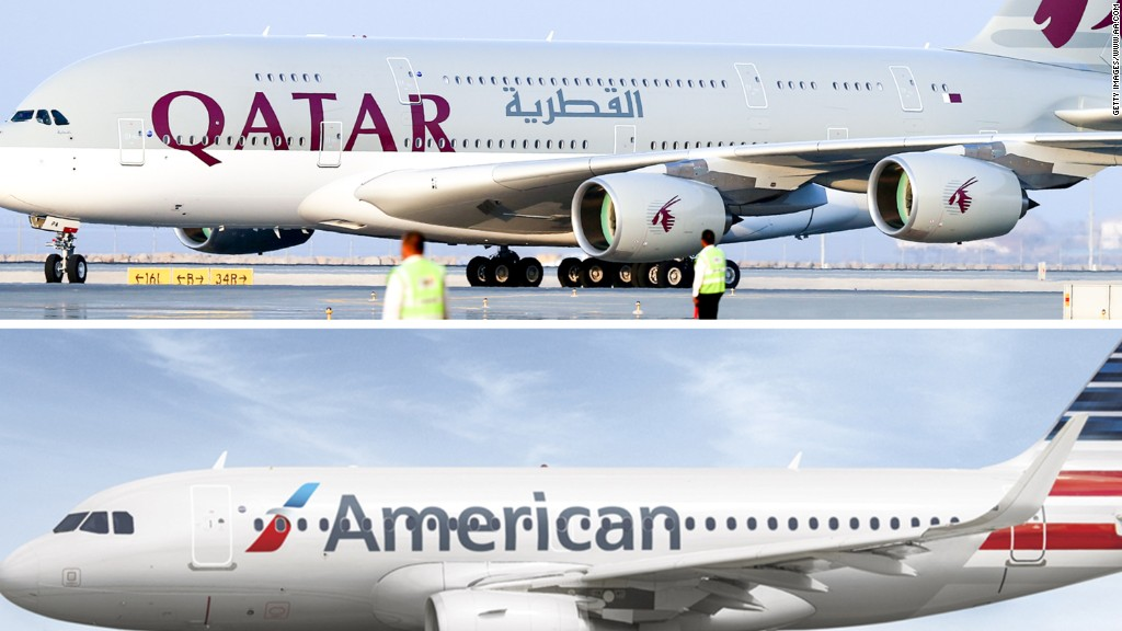 American Airlines says Qatar Airways is interested in buying a 10% stake
