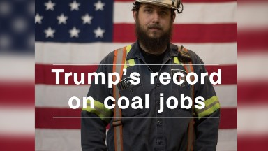President Trump's record on coal mining jobs