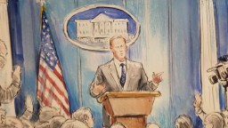A White House press briefing as told by CNN's sketch artist