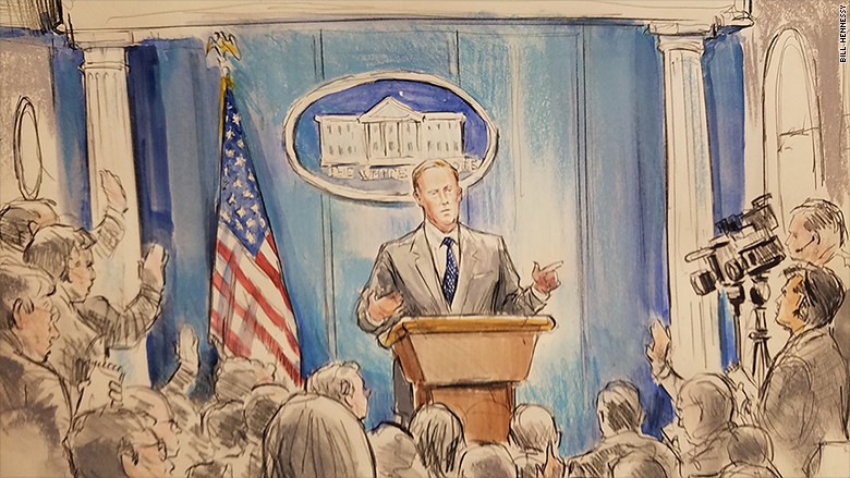 With cameras banned, CNN sends sketch artist
