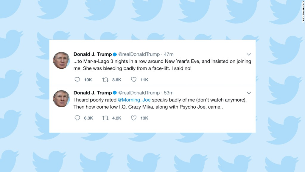 Trump tweets shocking assault on Brzezinski, Scarborough - Jun. 29 ...