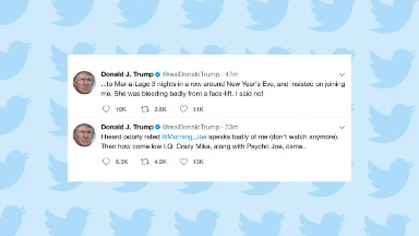 Trump tweets shocking assault on Brzezinski, Scarborough
