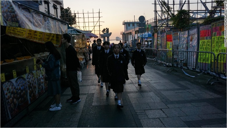 hong kong students girls uniform