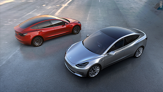 Tesla's Model 3 gets early boost from Consumer Reports