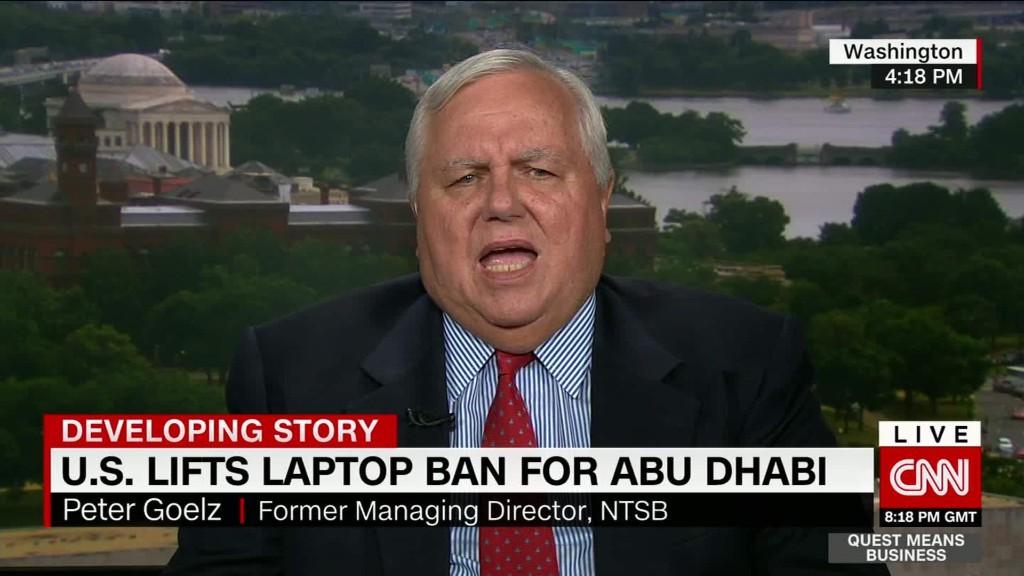U.S. lifts laptop ban for Abu Dhabi