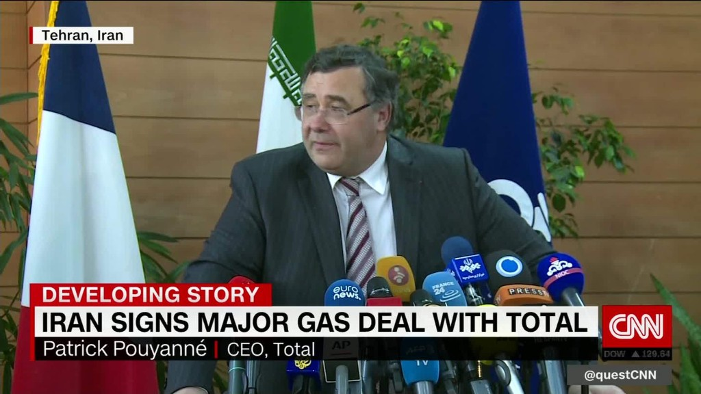 France's Total inks energy deal with Iran