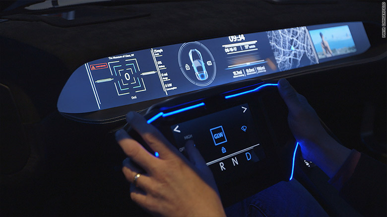 corning concept car dash