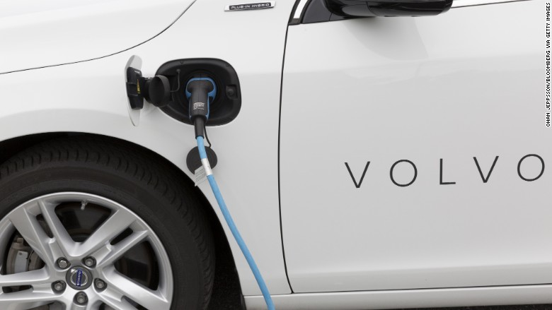 Volvo electric hybrid vehicle