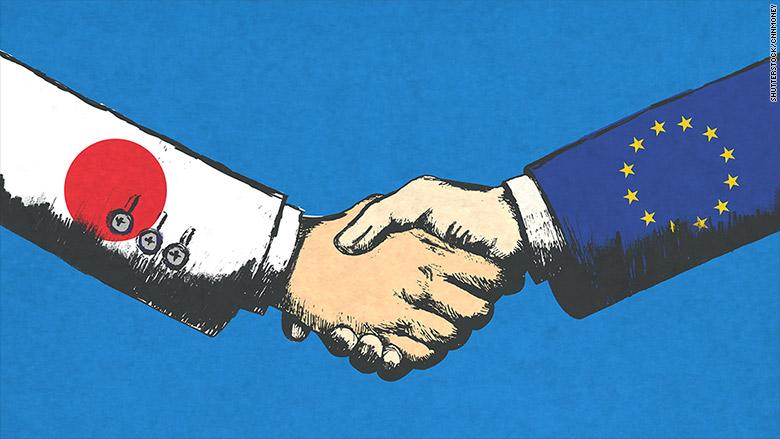 japan eu handshake