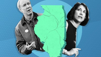 Illinois budget crisis pits governor against his wife