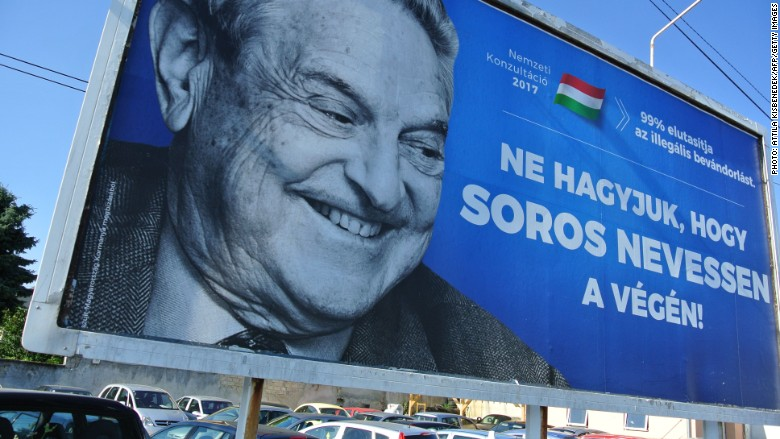anti George Soros Hungary posters