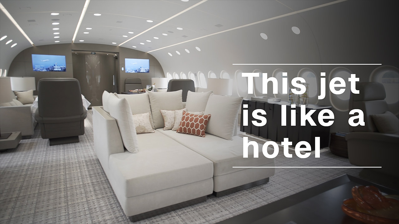This flying hotel can be yours for 74 000 an hour video for Jfk airport hotel inside terminal