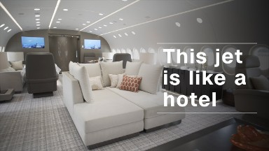 This flying hotel can be yours for $74,000 an hour