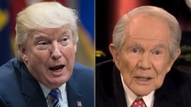 Trump ventures outside Fox News for interview with Pat Robertson