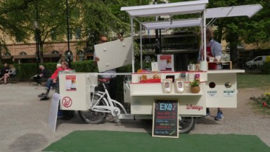 The coffee cart trying to circle the globe