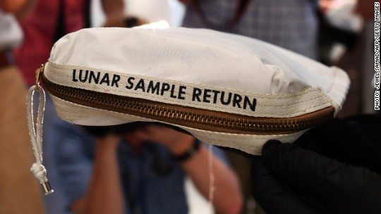 Armstrong moon bag NASA lost sells for $1.8 million