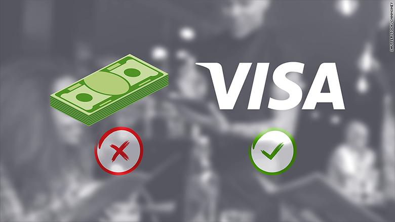 visa cashless restaurants