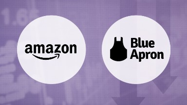 Blue Apron stock gets toasted as Amazon cooks up rival service