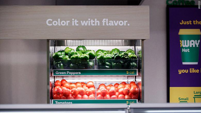 subway sandwiches vegetables