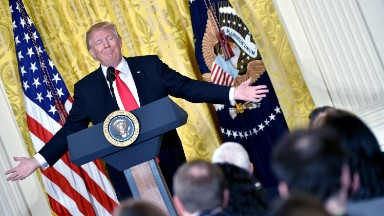 Six months in, Trump has given just one solo press conference