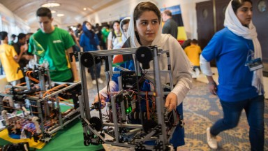 Afghan girls compete in the robotic olympics