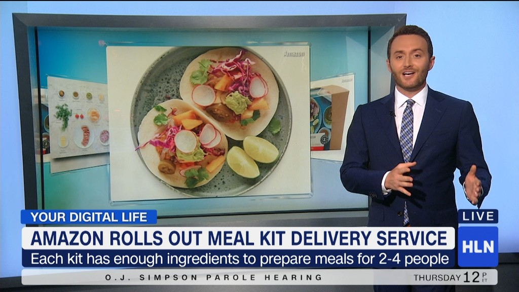 Amazon rolls out meal kit delivery service