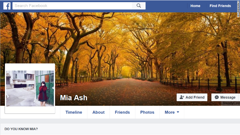 mia ash facebook profile fake