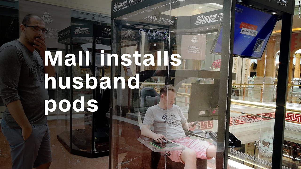 Pods Quote Mall Installs 'husband Pods' For Bored Spouses  Video  Technology
