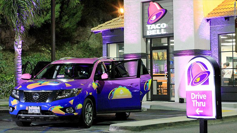 lyft taco bell drive thru
