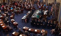 Pence breaks health care tie in Senate