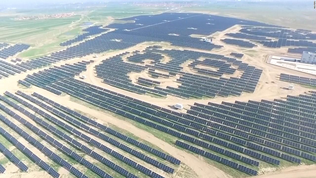 China S Huge Panda Shaped Solar Farm Video Technology