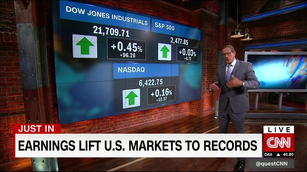 Earnings fuel Wall Street's record run